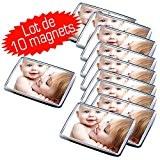 Lot de 10 magnets photo 66x45 mm