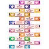 Lot de 12bâtonnets d'encens Satya Nag Champa authentique Joss 15g mixtes Scents Nouvelle Gamme Nag Champa, mystique, yoga, Reiki, puissance ...