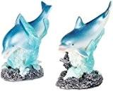 Lot de 2 figurines dauphin avec paillettes