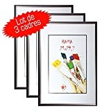 Lot de 3 cadres photo Galeria A4 Gris Anthracite