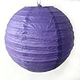 lot de 5 lanterne boule papier japonais pour décoration (violet, 10cm)