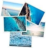 Lot de 5 pochettes aimantées pour photo standard. Idéal pour afficher et protéger vos photographies sur votre frigo ou autre ...