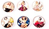 Lot de 6 Aimants - Magnets Pin up - vintage
