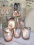 Lot de 6 mercure en verre pour bougie chauffe-plat Bougie Votive décoration de mariage
