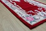 Lotus Premium Aubusson Tapis Laine Oriental Rouge 67x 210