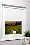 Lumière Du Jour Store occultant Blanc–Pince Store enrouleur tamisant différentes tailles sans perçage avec cordon latéral, Weiß, 70x150 cm