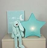 Luminaire enfant/Lampe de chevet Etoille Vert Menthe 37 x 37cm