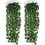 luyue 4bunchs plantes artificielles Greeny Guirlande feuilles de lierre Suspension Murale Pour Maison Jardin Décoration Murale