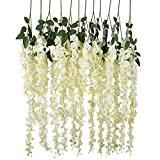 luyue Faux artificielles Glycine Ratta vigne de fleurs en soie de mariage Parti Home Decor 4,59 m,Pièce de 6