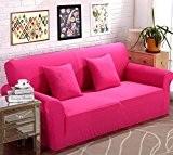 LY&HYL Jacquard en tricot Sofa Stretch Slipcover Sofa wrap tout-inclus résistant au glissement rose Rouge canapé élastique couverture unique / ...