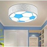 lyxg Chambre lampe plafonnier LED pour fille et garçon et lampes chambre einladende lumière lumière Cartoon énergie Le football Eye ...