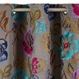 Madura Rideau à Oeillets MAGELLAN Coton Gris 135 x 300 cm