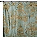 Madura Rideau à ruban fronceur SHANGAI Vert 135x280 cm