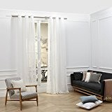 Madura Voilage à Oeillets MARLOW Blanc 125 x 280 cm