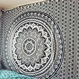 Magical Tapisserie Noir et gris ombré Bohemian Mandala Tapestryhome Décor, hippie Décoration murale à suspendre Couvre-lit par Craftozone, Double 240x220 ...