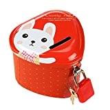 MagiDeal Mignon Tirelires Mini-cœur Boîte De Monnaie Box de Dépôt Cadeau pour Enfants