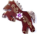 Magnet Aimant Chat Bois Frigo Artisanal Animal Cheval Poney Fleur wooden horse