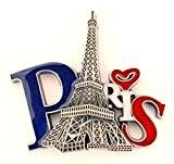 magnet aimant de frigo cuisine souvenir de France Paris métal cadeaux G177 (Argenté)