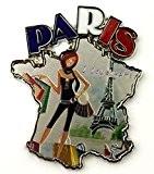 magnet aimant frigo cuisine souvenir de France Paris métal cadeaux G140 5x6,5 cm