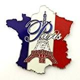 magnet aimant frigo cuisine souvenir France Paris métal cadeaux G176 4,5x4,5cm