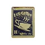 Magnet déco en métal Hot Coffee 6x8