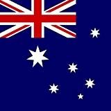Magnet Frigo avec drapeau national australien - 5 x 5 cm - Aimant pour les amis d'Australie