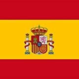Magnet Frigo avec drapeau national espaniol - 5 x 5 cm - Aimant pour les amis de l'Espagne