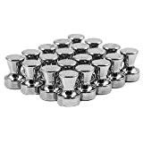 Magnetastico® | 20 aimants très puissants, à la forme conique, en acier, en néodyme N42 | Dimensions: 12x16 mm, nickelé ...