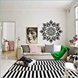 """mairgwall Fleur de vie en vinyle Motif géométrique indien marocain Sticker mural Motif Namaste, Vinyle, Personnalisé, 46""""hx46""""w"""