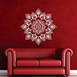 mairgwall Namaste Fleurs Mandala indien Mandala Autocollant mural Decor Lotus Yoga Papier peint Décoration murale religieuse Sticker en vinyle Home ...