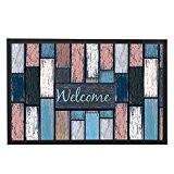 Maison de bois Welcome Tapis de porte rustique moderne Tapis de sol Intérieur ou extérieur Maison de tapis de bain ...