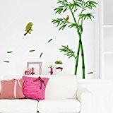 Malloom Forêt De Bambous Profonde 3d Stickers Muraux Mur Romance Décoration Bricolage