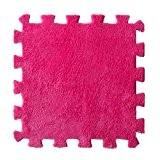 Malloom Mat/Tapis 30 * 30cm Salon Enfants Chambre Patchwork Doux Tapis épissure Bébé (Rose vif)