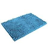 Malloom® Shaggy Doux Antidérapant Tapis De Bain Absorbant Tapis De Salle De Douche Tapis (Bleu Clair)