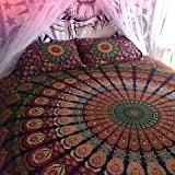 Mandala indien Tapisserie de pique-nique hippie bohème Décoration murale Lit en Coton, double, couverture, couverture, Gypsy ou Résidence Décoration de ...
