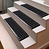 Marchettes escalier casa pura® Octo Step | en caoutchouc caillebotis antidérapant | 5 et 10 pièces au choix | résistant ...