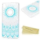 Mavis's Diary Coque Sony Xperia E5 TPU Souple Fleur Totem Dessin Housse de Protection Étui Téléphone Portable Phone Case Cover+Chiffon