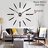 Max3 Luxury DIY 3d Wall Clock Home Decoration Mirrors Surface Large Size Art Clock (12S012-b) by Max3