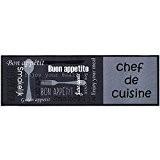 MD-Entree 7701515205 Chef de Cuisine Tapis de Cuisine Polyamide Gris 50 x 150 cm