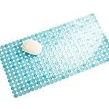 mDesign tapis de douche antidérapant – tapis de bain carré avec ventouses – paillasson de nettoyage à poser devant la ...