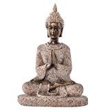 Méditation Bouddha Statue de Grès Sculpture Figurine Fait à la Main #3