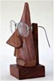 Mères jour cadeaux de bois sculpté Spectacle Cadre de lunettes Titulaire Décoration de maison