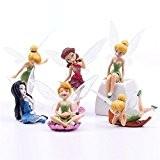 Merssavo 6Pcs Miniature Fée en Résine Décoration Pour Pot de fleurs Jardin