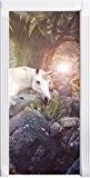 merveilleuse licornecomme Mural, Format: 200x90cm, cadre de porte, porte autocollants, décoration de porte, porte autocollants