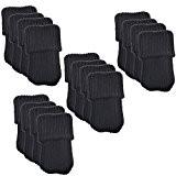 Meta-U® 24pcs tricot laine meubles chaussettes - coussins de chaise jambe tapis protecteur (noir)