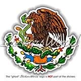 Mexique mexicain armoiries de badge Écusson 100mm (10,2cm) Bumper Sticker en vinyle, en