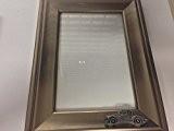 MG Magnette ZB emblème 3D voiture Cadre photo Argent 6x 4suspendre ou support Ref132