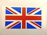 Mini sticker Pack, 99x 58mm Rectangle, en plastique durable, Sticker Autocollant Fenêtre Drapeau, Grande-Bretagne Union Jack Label