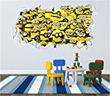 Minion Despicable Me Crumbled Wall Art Sticker Decal Kids Bedroom Print (Large 59cm x 107cm) by Red Parrot Graphics