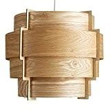 MiniSun Abat-Jour Abats Jour pour suspension. 4 Tambours En Placage du bois Véritable avec une Cadre en Bois. Très contemporain. ...